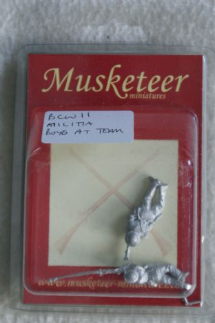 Musketeer Miniatures 28mm BCW11 Militia Boyes AT Rifle Team